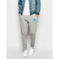 Молодежные спортивные штаны Adidas Адидас серые (РЕПЛИКА)