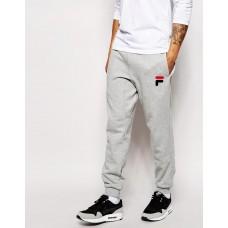 Модные спортивные штаны для парня Fila Фила  серые (РЕПЛИКА)