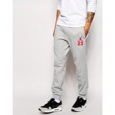Молодежные спортивные штаны Джордан 23 Jordan серые (РЕПЛИКА)