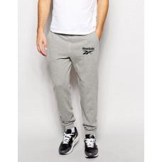 Молодежные штаны спортивные Reebok Рибок серые  (РЕПЛИКА)