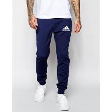 Мужские спортивные штаны Adidas Адидас темно-синие (РЕПЛИКА)