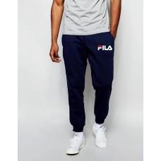 Модные спортивные штаны для парня Fila Фила  темно-синие (РЕПЛИКА)