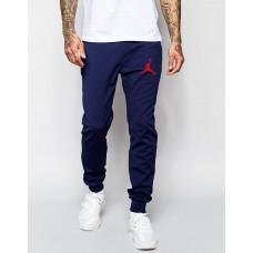 Молодежные спортивные штаны Джордан Jordan темно-синие (РЕПЛИКА)