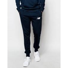 Модные спортивные штаны Nike New Balance Найк темно-синие (РЕПЛИКА)