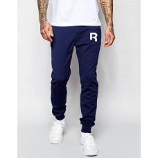Молодежные штаны спортивные Reebok Рибок темно-синие (РЕПЛИКА)