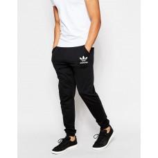 Мужские спортивные штаны Adidas Адидас черные (РЕПЛИКА)