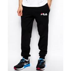 Модные спортивные штаны для парня Fila Фила  черные (РЕПЛИКА)