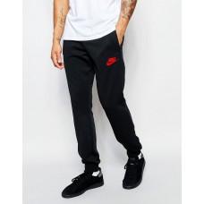 Модные спортивные штаны Nike Найк черные (РЕПЛИКА)