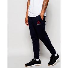 Молодежные штаны спортивные Reebok Рибок черные (РЕПЛИКА)