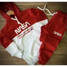 Спортивный мужской костюм красный - белый Наса Nasa трехнитка (РЕПЛИКА)