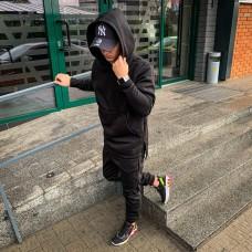 Черный зимний мужской спортивный костюм Asos Long 2020 Асос