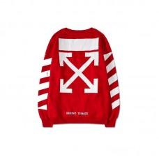 Свитшот OFF WHITE Red  Shirt Oversize Sweatshirt