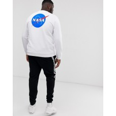 Свитшот белый NASA back