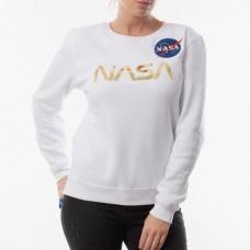 Свитшот белый NASA gold