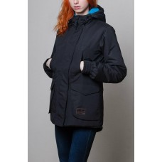 Стильная женская парка Olymp - Black and Blue, теплая зимняя куртка